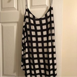 Comfy ASOS curve flowy tank with check pattern